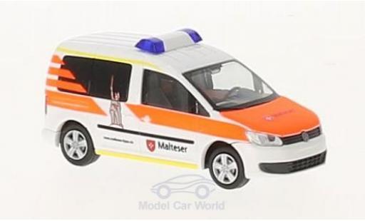Volkswagen Caddy 1/87 Rietze Malteser Lippe 2011 miniatura