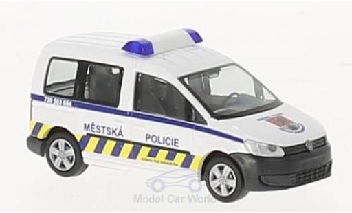 Volkswagen Caddy 1/87 Rietze Mestska Policie (CZ) 2011 diecast