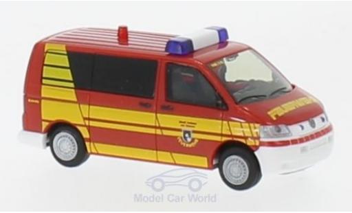 Volkswagen T5 1/87 Rietze Bus Feuerwehr Hofheim im Taunus 2003 miniature