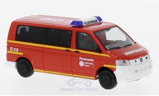 Volkswagen T5 1/87 Rietze VW T5 Feuerwehr Uniklinik Köln 2003 miniature