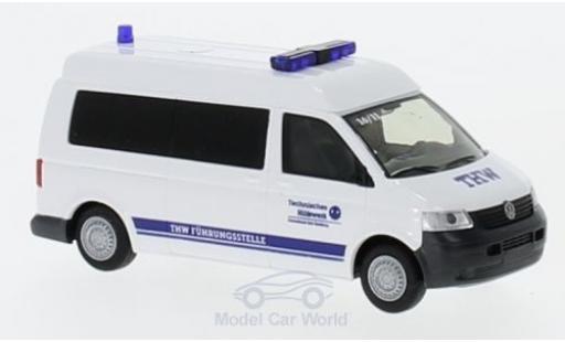 Volkswagen T5 1/87 Rietze Hochdach Bus THW Bad Homburg 2003 miniature