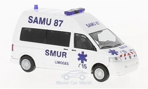 Volkswagen T5 1/87 Rietze Samu 87 Limoges (FR) diecast