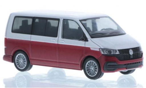 Volkswagen T6 1/87 Rietze .1 grise/rouge court- empattement miniature