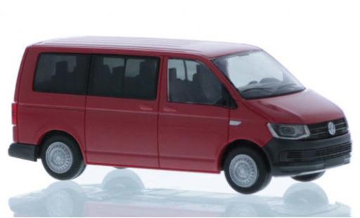 Volkswagen T6 1/87 Rietze Bus rouge court- empattement miniature