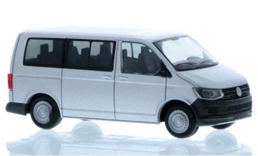 Volkswagen T6 1/87 Rietze Bus grise court- empattement miniature