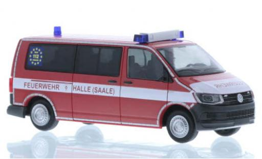 Volkswagen T6 1/87 Rietze Feuerwehr Halle-Saale plus long empattement diecast model cars