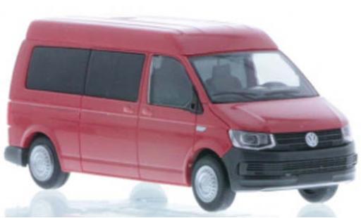 Volkswagen T6 1/87 Rietze LR Bus MD rouge miniature