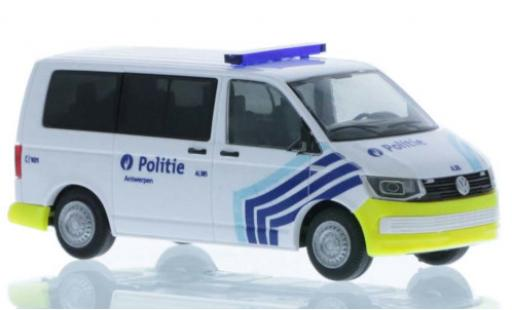 Volkswagen T6 1/87 Rietze Politie (BE) court- empattement miniature