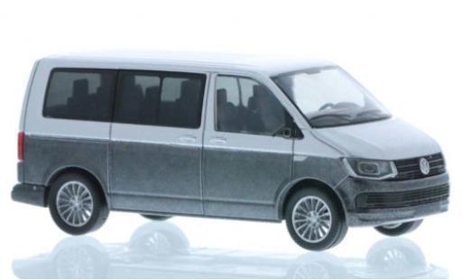 Volkswagen T6 1/87 Rietze grise/metallise grise court- empattement miniature