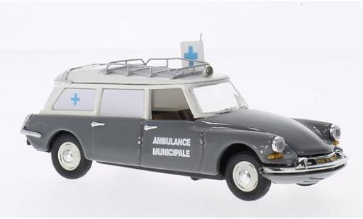 Citroen DS 1/43 Rio 19 Break grise/beige Ambulance Municipale 1962 miniature