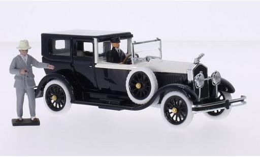 Isotta Fraschini 1/43 Rio 8A Torpedo Fleetwood negro/beige RHD 1925 Rudolph Valentino avec 2 figurines coche miniatura