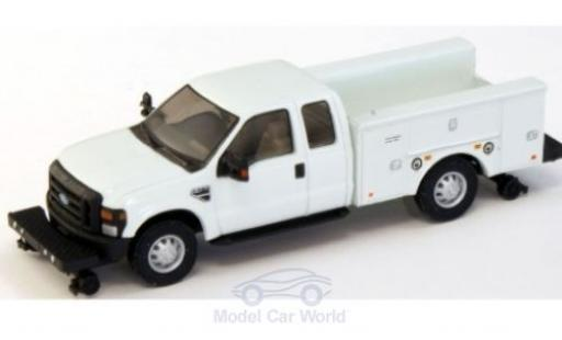 Ford F-350 1/87 River Point XLT Super Cab Hi Rail Utility Truck blanche 2008 miniature