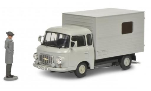 Barkas B 1000 1/43 Schuco Kofferwagen grise avec figurine miniature
