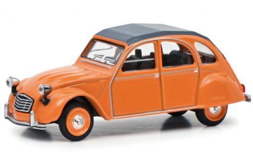 Citroen 2CV 1/64 Schuco 2 CV orange Paperbox Edition miniature