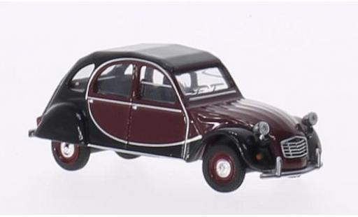 Citroen 2CV 1/64 Schuco Charleston rouge/noire miniature