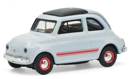 Fiat 500 1/87 Schuco blue/red