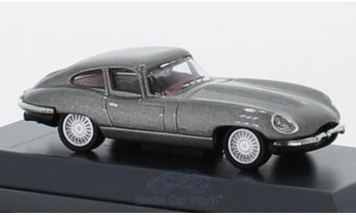 Jaguar E-Type 1/87 Schuco Coupe grise miniature