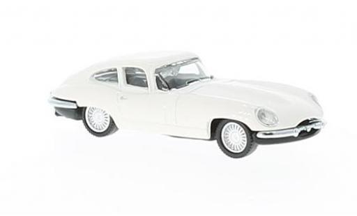 Jaguar E-Type 1/87 Schuco blanche miniature