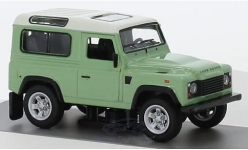 Land Rover Defender 1/64 Schuco verte/blanche miniature