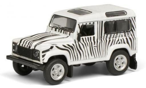 Land Rover Defender 1/64 Schuco blanche/noire Safari  miniature