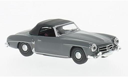 Mercedes 190 1/87 Schuco SL grise/noire miniature
