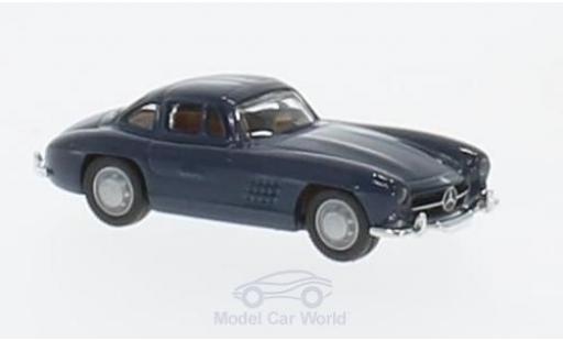 Mercedes 300 SL 1/87 Schuco bleue miniature
