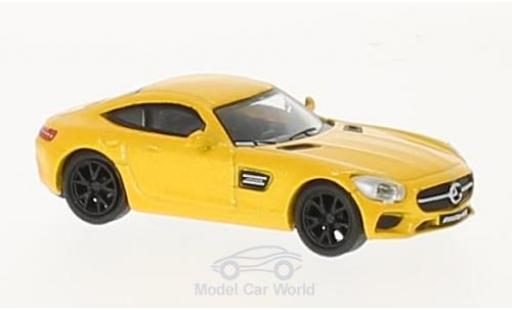 Mercedes AMG GT 1/87 Schuco metallise yellow diecast model cars