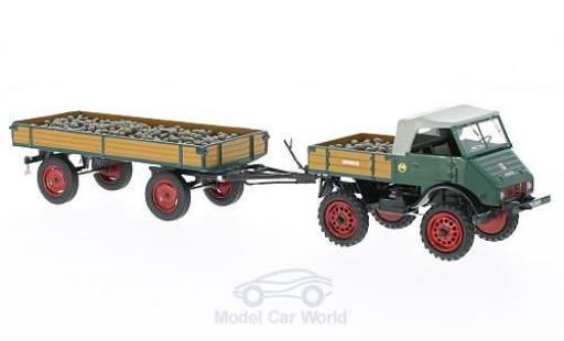 Mercedes Unimog 1/43 Schuco U401 mit Anhänger und Ladegut miniature