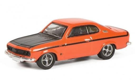 Opel Manta 1/87 Schuco A GT/E orange/matt-noire miniature