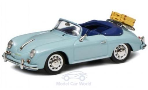 Porsche 356 1/43 Schuco A Cabriolet bleue mit Gepäck miniature