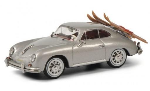 Porsche 356 1/43 Schuco A Coupe grise avec Wasserskiträger et charge miniature