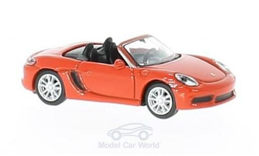 Porsche Boxster 1/87 Schuco 718 S orange miniature
