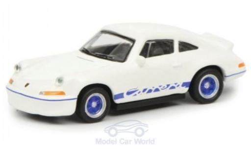 Porsche 911 SC 1/87 Schuco 2.7 RS blanche/bleue miniature