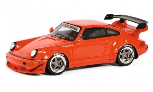 Porsche 964 RWB 1/43 Schuco 911  RAUH-Welt rouge miniature