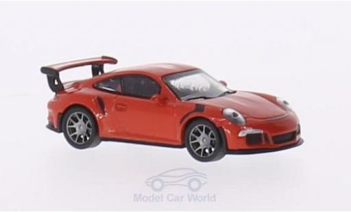 Porsche 991 GT3 RS 1/87 Schuco 911  orange miniature