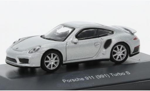 Porsche 991 Turbo S 1/87 Schuco 911  grey diecast model cars