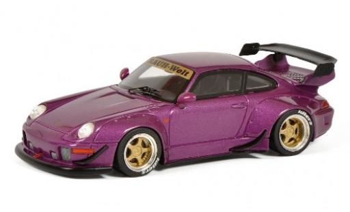 Porsche 993 RWB 1/43 Schuco 911  RAUH-Welt metallise purple diecast model cars