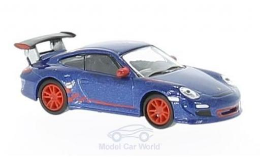 Porsche 997 GT3 RS 1/87 Schuco 911  metallise bleue miniature