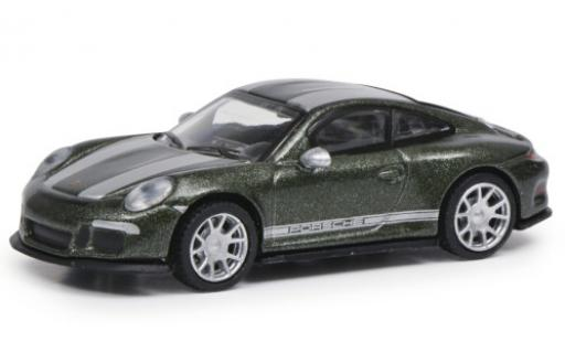 Porsche 991 R 1/87 Schuco 911  metallise verte/grise miniature