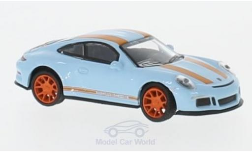 Porsche 911 SC 1/87 Schuco R bleue/orange miniature