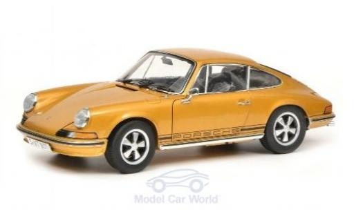 Porsche 911 1/18 Schuco S gold 1973 diecast model cars