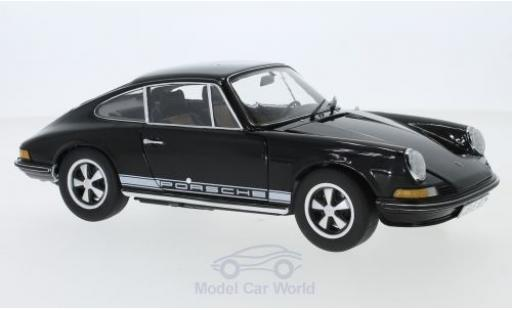 Porsche 911 1/18 Schuco S black 1973 diecast model cars