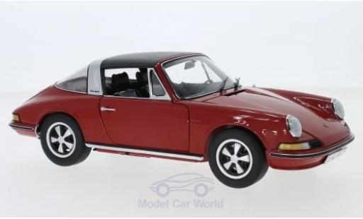 Porsche 911 1/18 Schuco S Targa red 1973 diecast model cars
