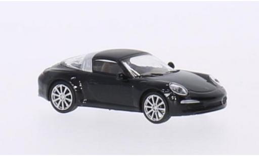 Porsche 991 Targa 1/87 Schuco 911 4S  metallise nero modellino in miniatura