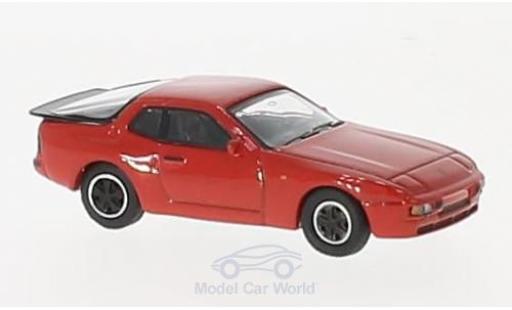 Porsche 944 1/87 Schuco rouge miniature