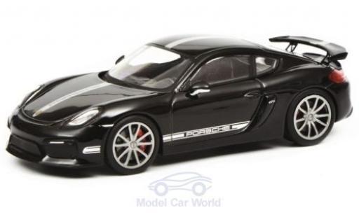 Porsche Cayman 1/43 Schuco GT4 (981c) black/grey 2015