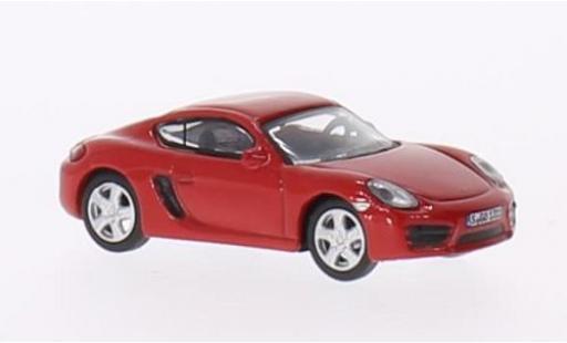 Porsche Cayman S 1/87 Schuco (981) rouge miniature