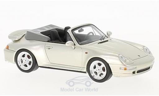 Porsche 993 Turbo 1/43 Schuco / Pro.R (993) Turbo Cabriolet metallic-beige diecast