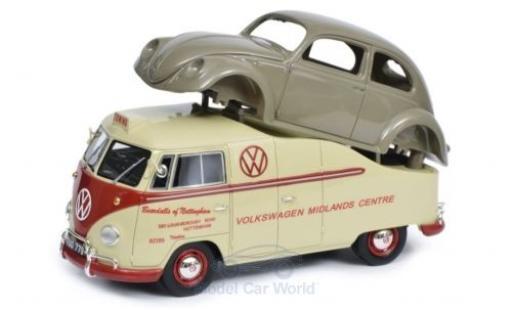 Volkswagen T1 1/18 Schuco ProR a Midlands Centre mit Brezelkäfer Karosserie diecast