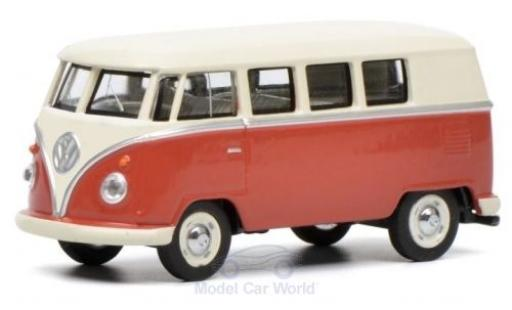 Volkswagen T1 1/64 Schuco Bus red/beige diecast model cars
